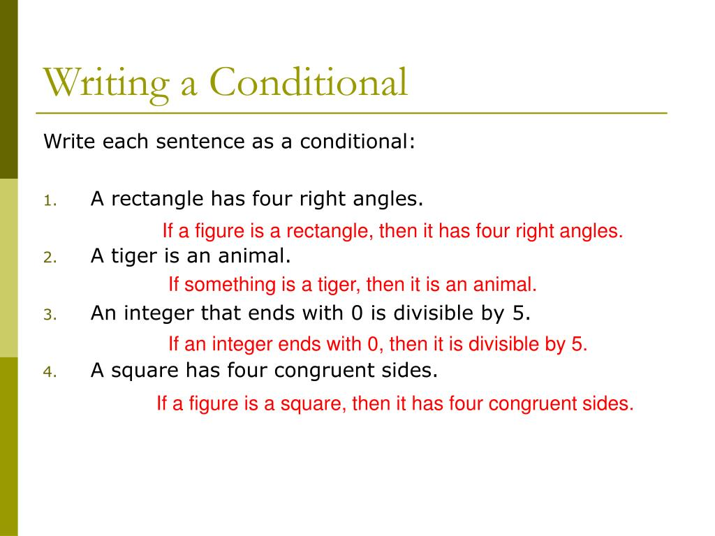 Writing a Conditional