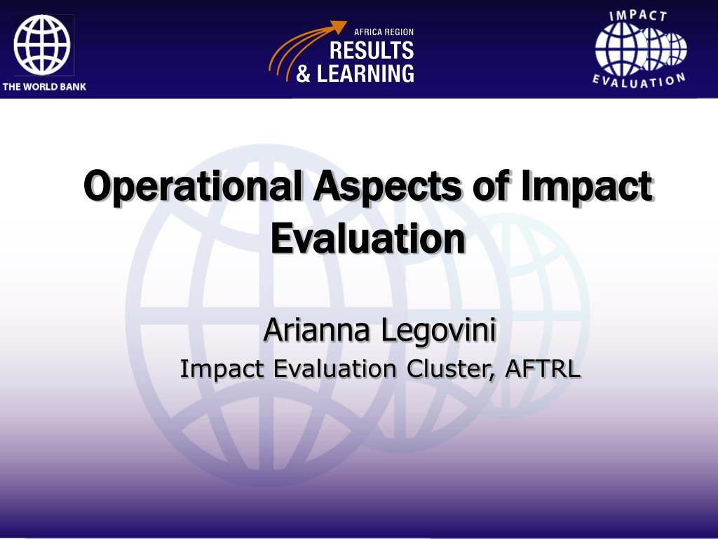 operational aspects of impact evaluation l.