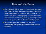 fear and the brain7