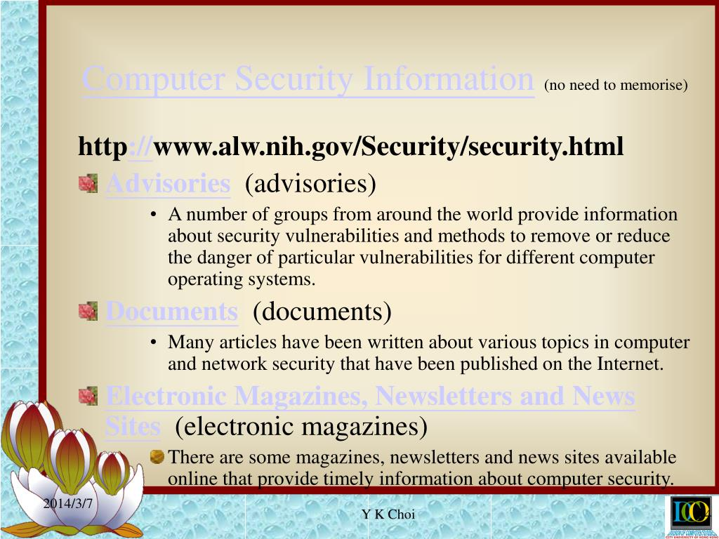 Computer Security Information