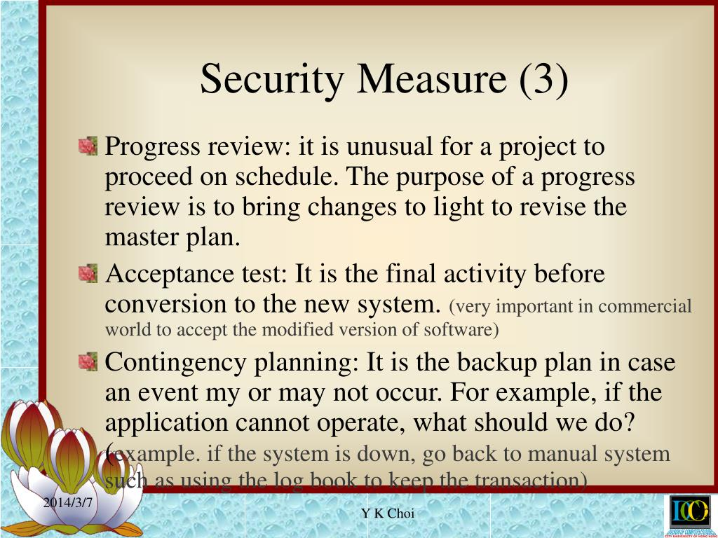 Security Measure (3)