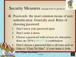 security measures means how to protect