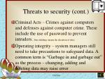threats to security cont