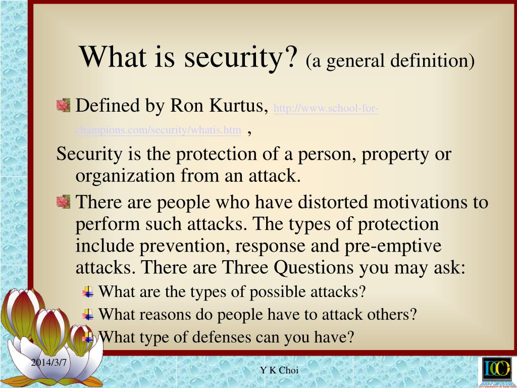 What is security?