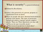 what is security a general definition