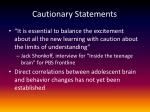 cautionary statements
