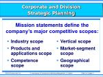 corporate and division strategic planning6