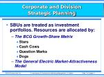 corporate and division strategic planning8