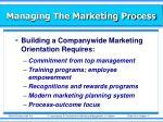 managing the marketing process20