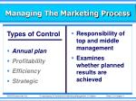 managing the marketing process22