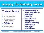 managing the marketing process25