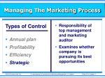 managing the marketing process26
