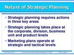 nature of strategic planning