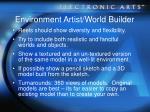 environment artist world builder