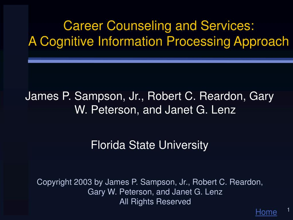 career counseling and services a cognitive information processing approach l.