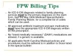fpw billing tips21
