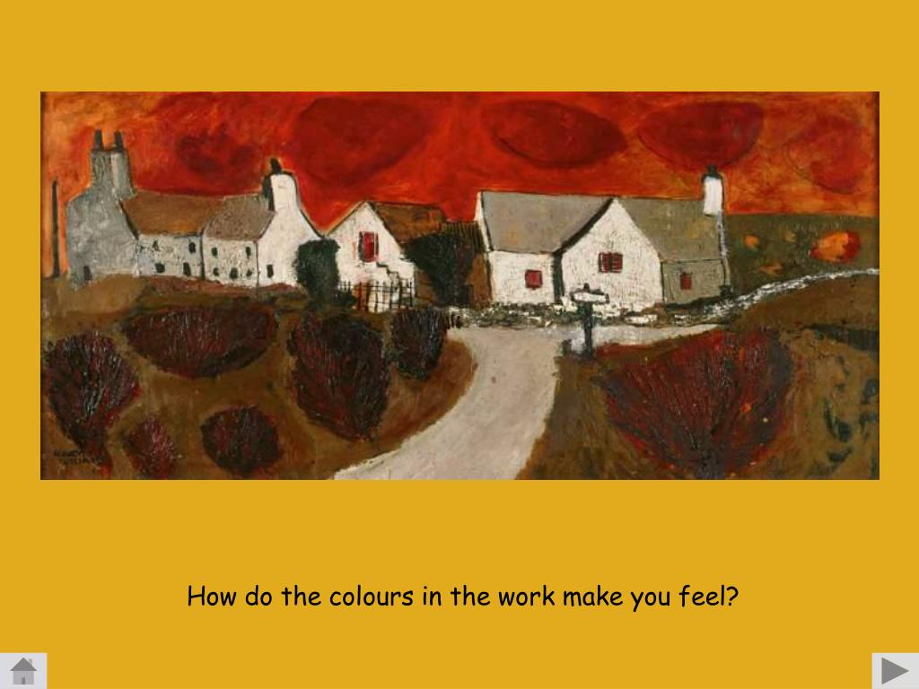 How do the colours in the work make you feel?