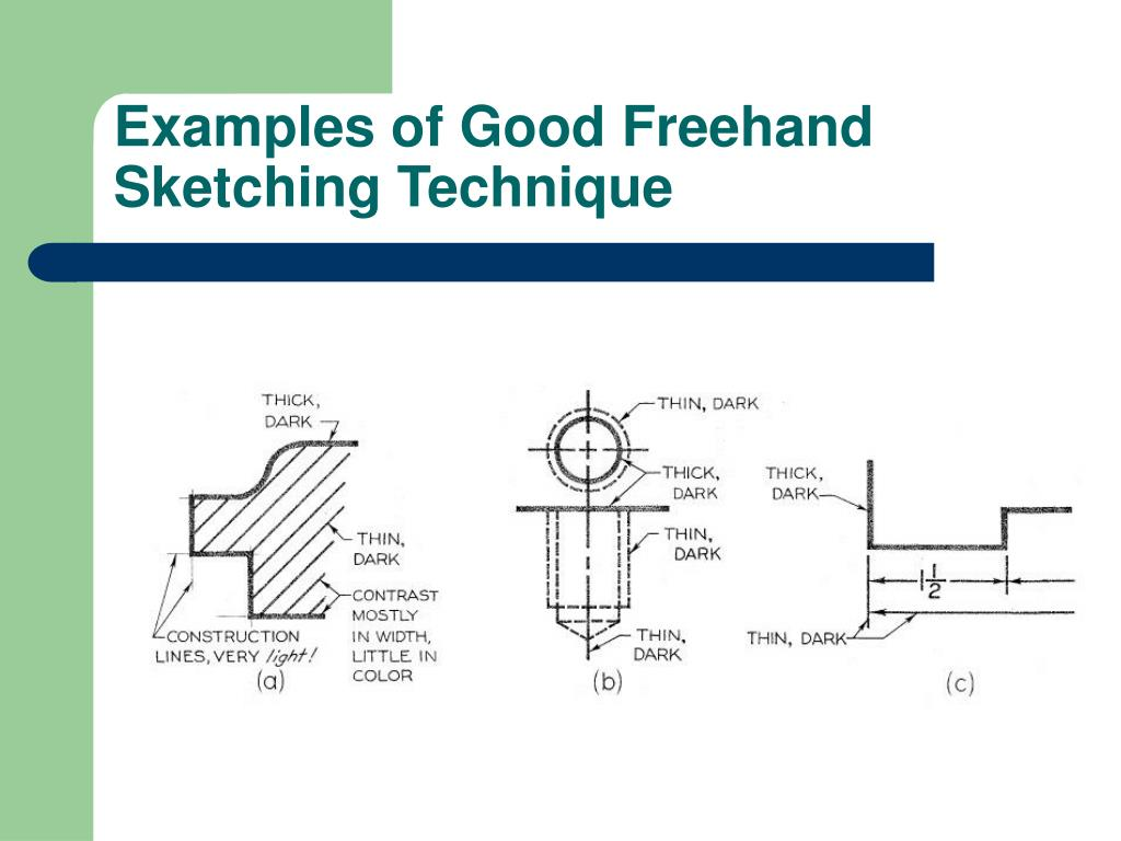 Examples of Good Freehand Sketching Technique
