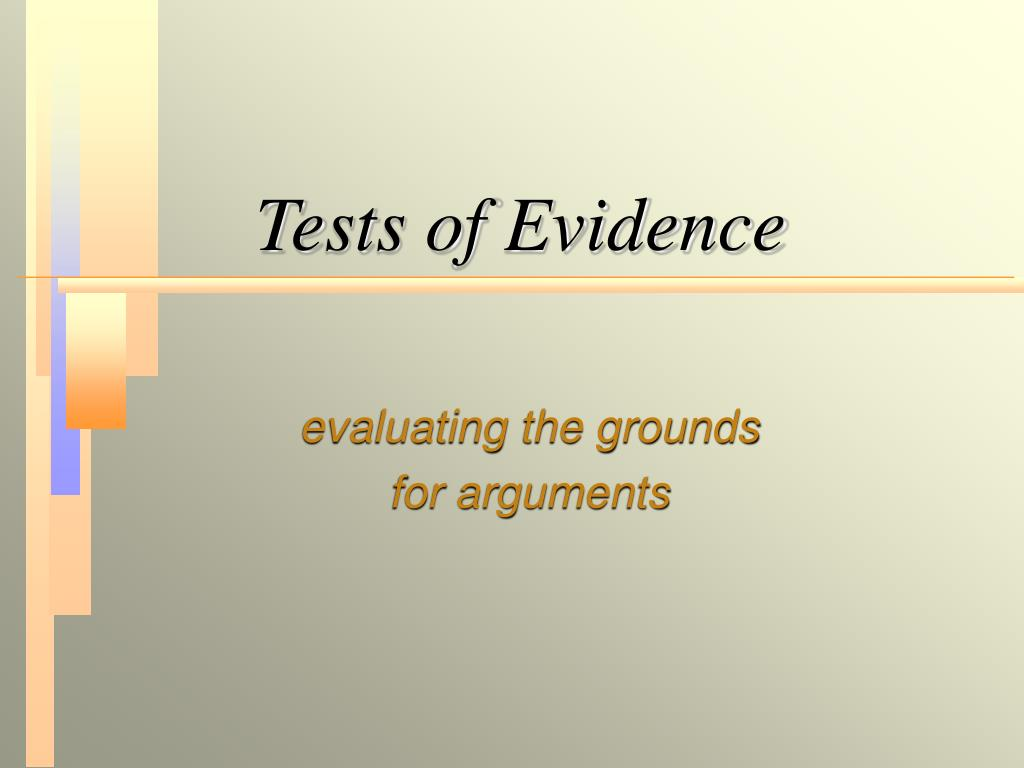 tests of evidence l.