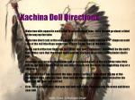 kachina doll directions
