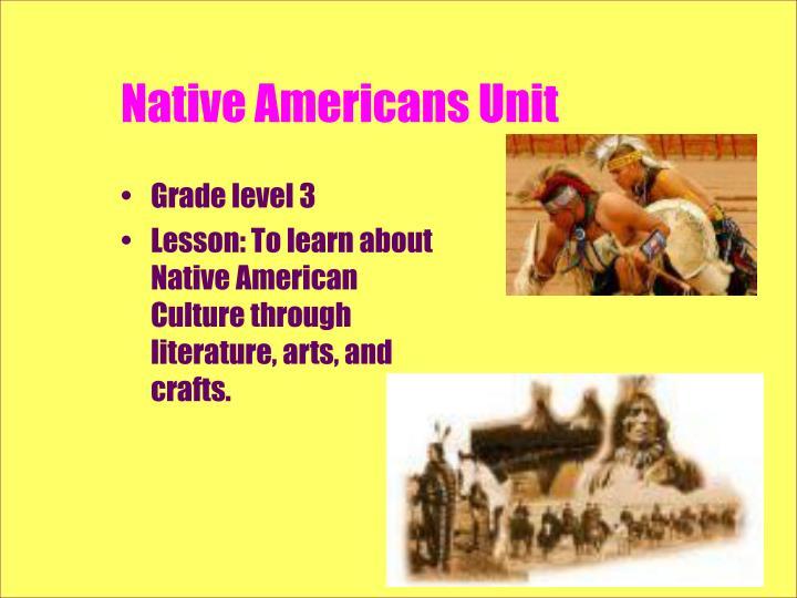 Native americans unit