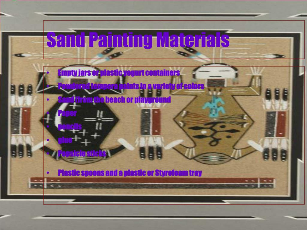 Sand Painting Materials