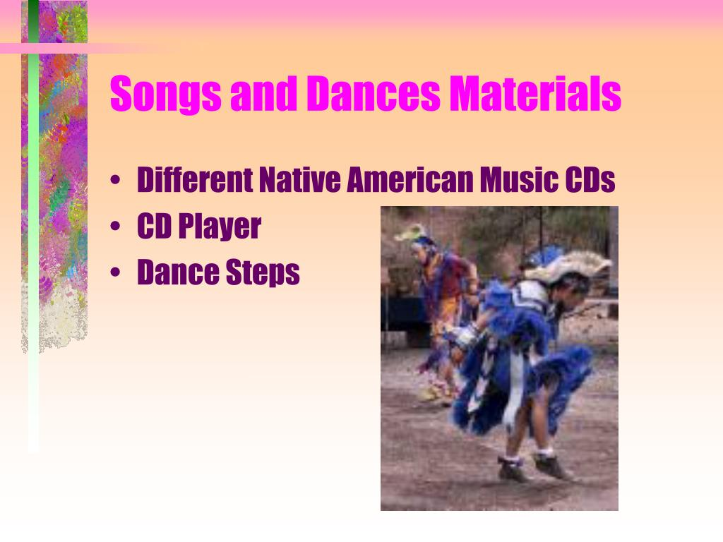 Songs and Dances Materials