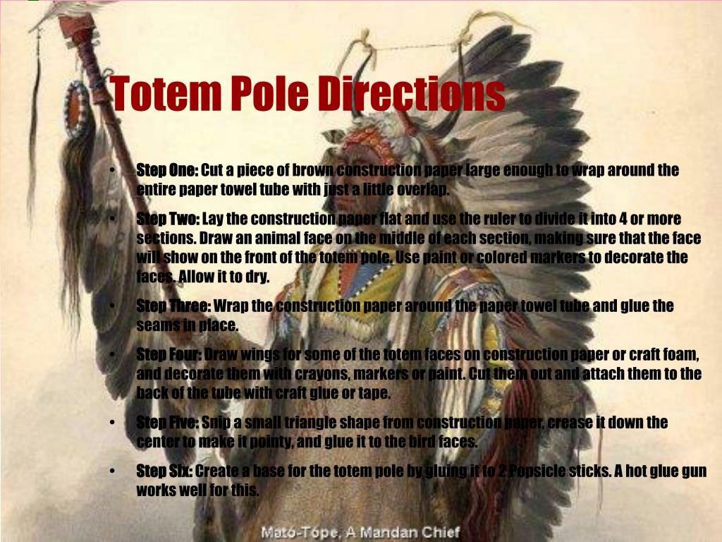 Totem Pole Directions