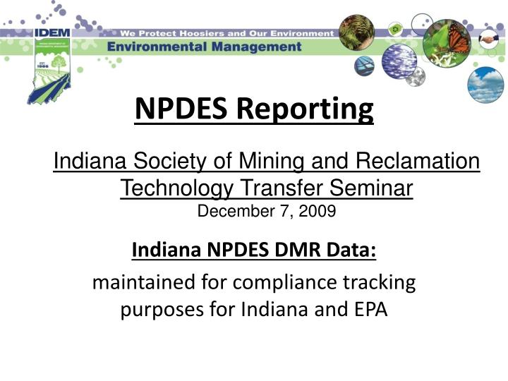 npdes reporting n.