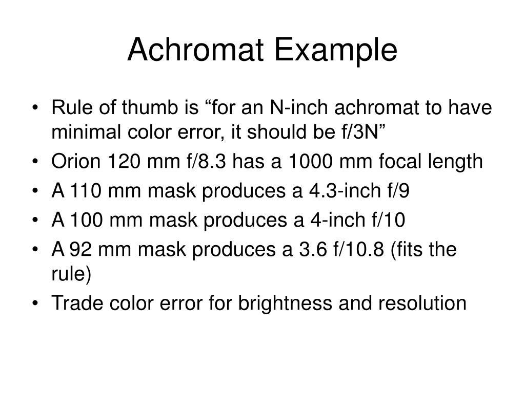 Achromat Example