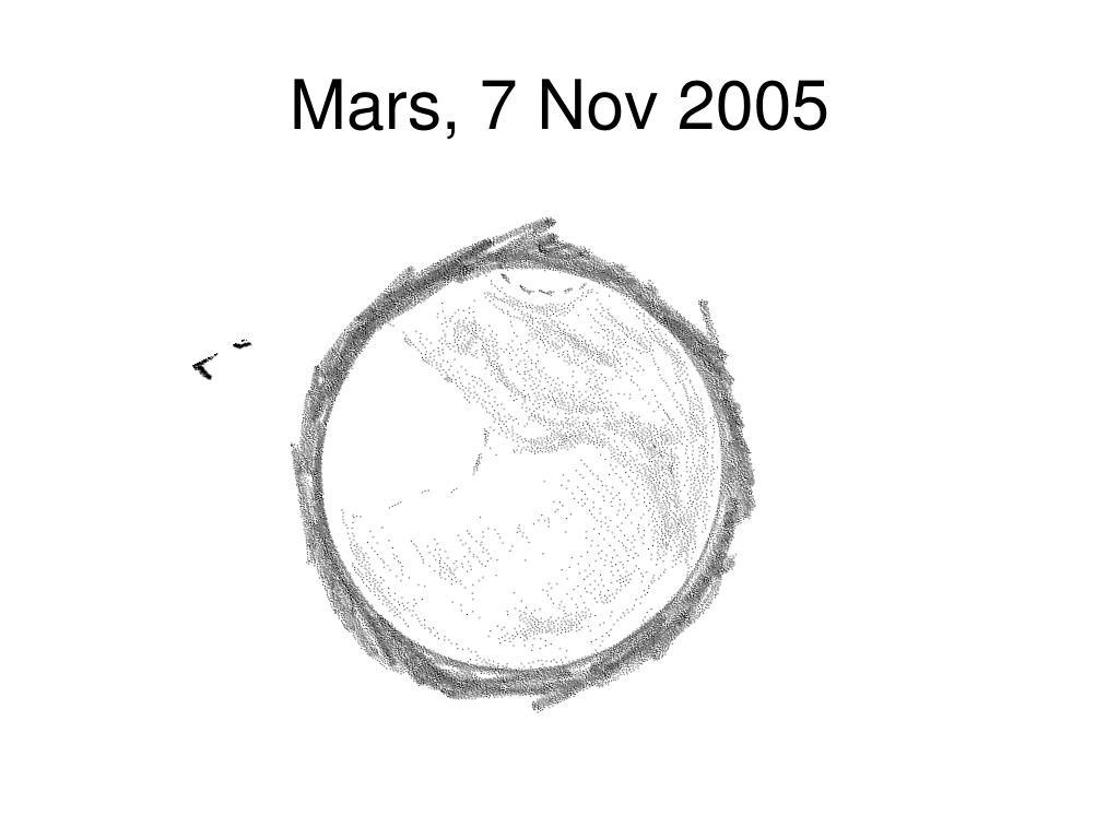 Mars, 7 Nov 2005