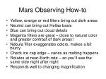 mars observing how to