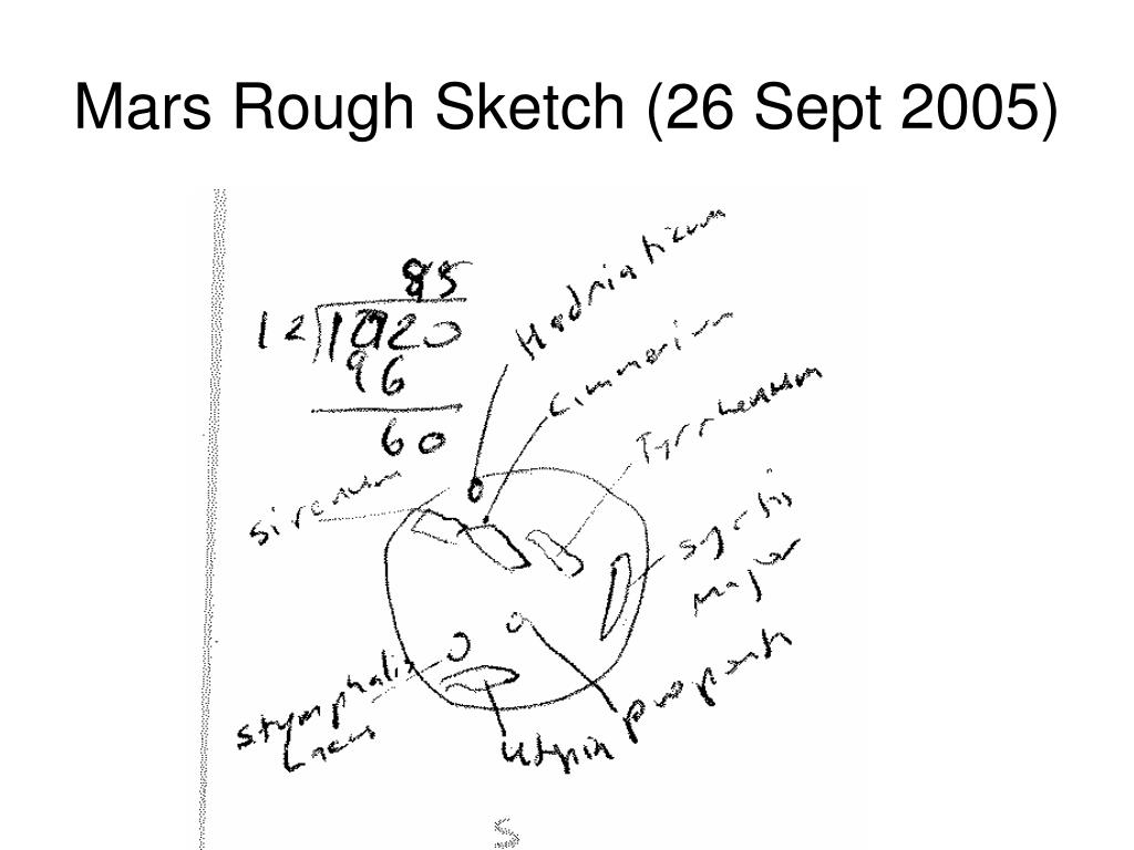 Mars Rough Sketch (26 Sept 2005)