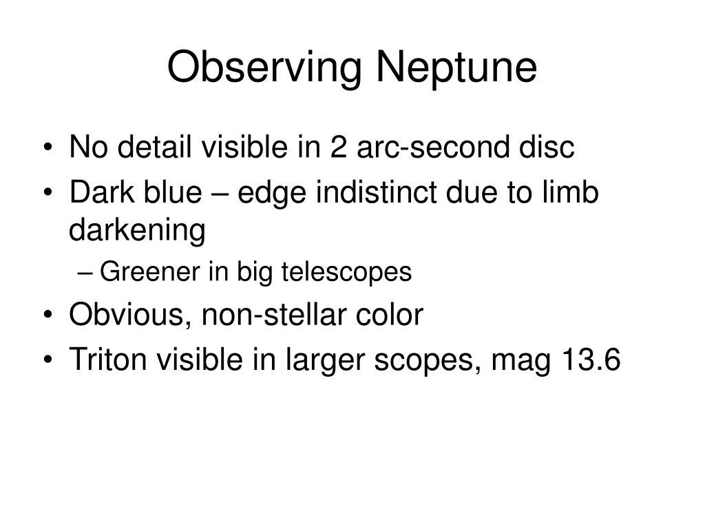 Observing Neptune