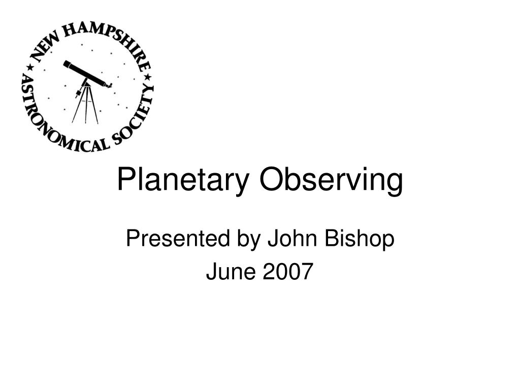 planetary observing l.