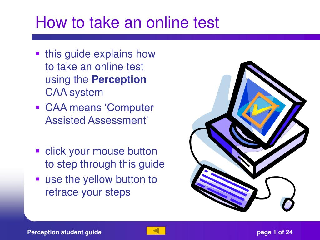 how to take an online test l.