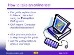 how to take an online test