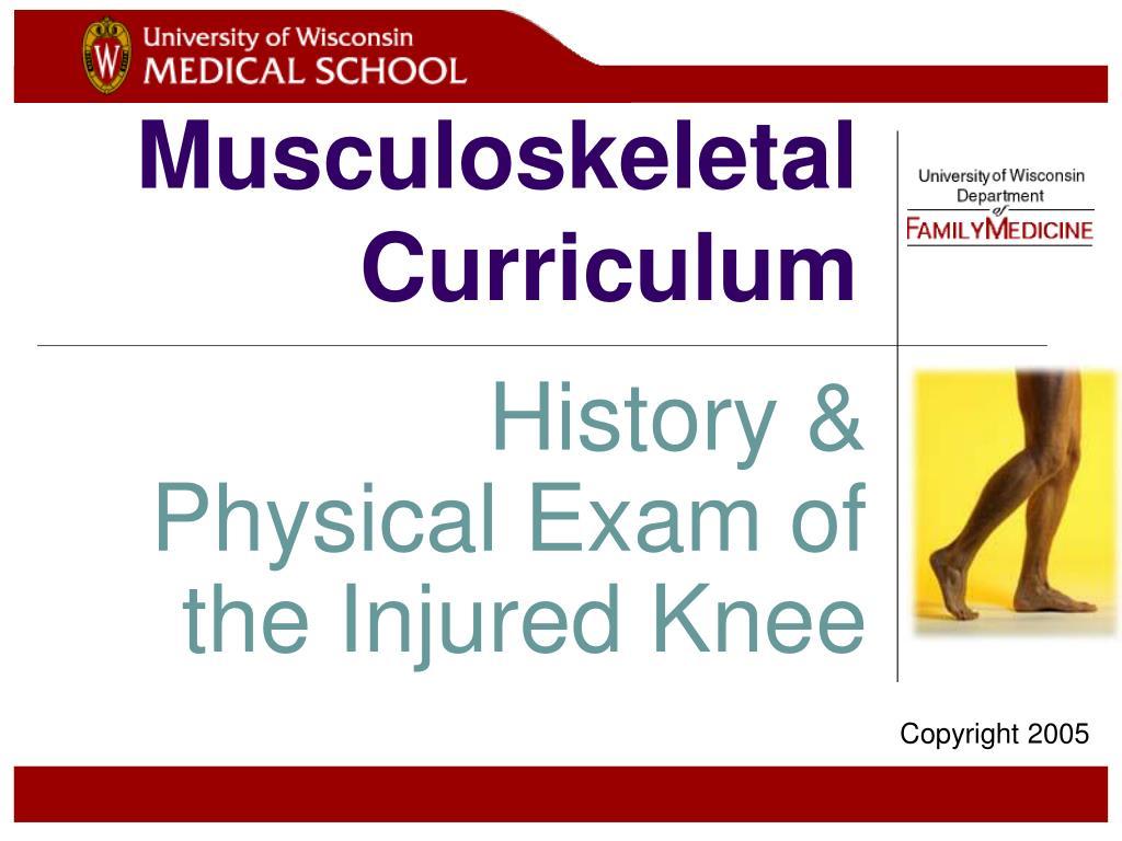 musculoskeletal curriculum l.