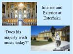interior and exterior at esterh za