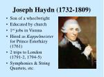 joseph haydn 1732 1809