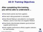 as 51 training objectives