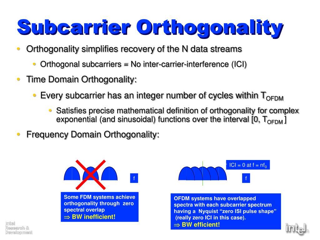 Subcarrier Orthogonality