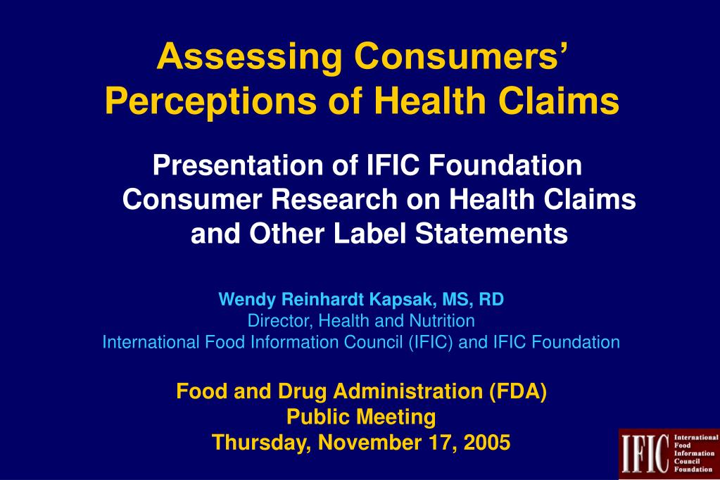 assessing consumers perceptions of health claims l.