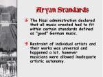aryan standards