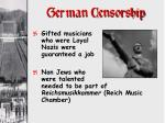 german censorship