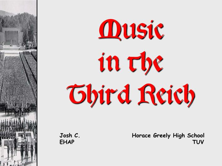 music in the third reich n.