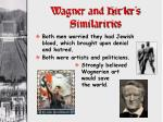 wagner and hitler s similarities