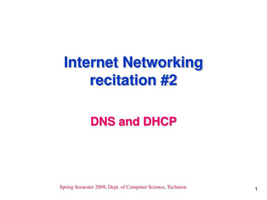 internet networking recitation 2 l.