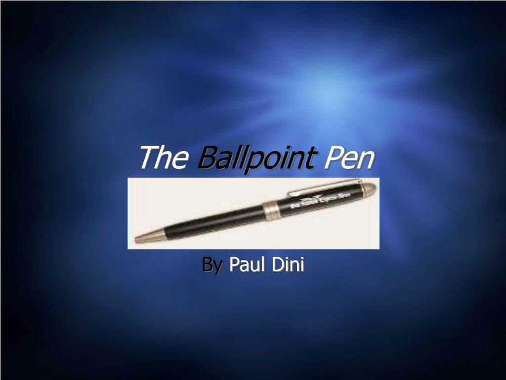 the ballpoint pen l.