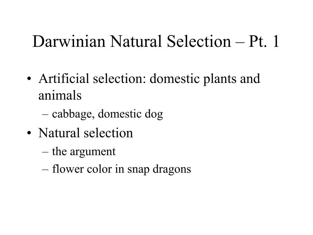 argument and natural selection Misconceptions about natural selection and adaptation students should have opportunities to discuss the merits of arguments and.